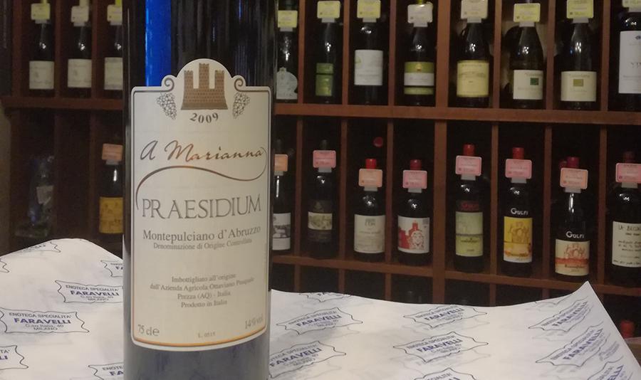"Montepulciano d'Abruzzo ""A Marianna"", Praesidium"